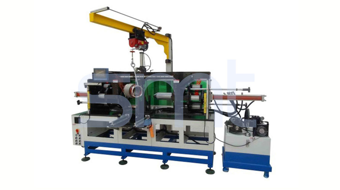 ZJ300 Model Horizontal Motor Stator Coil Forming Machine with Movable Crane